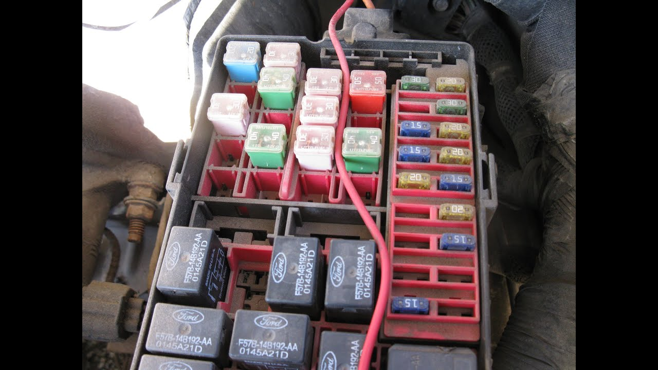 150 1997 Panel Diagram Fuse Ford F