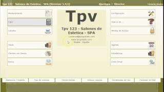 tpv gratuito programa para estetica y spa modulo principal