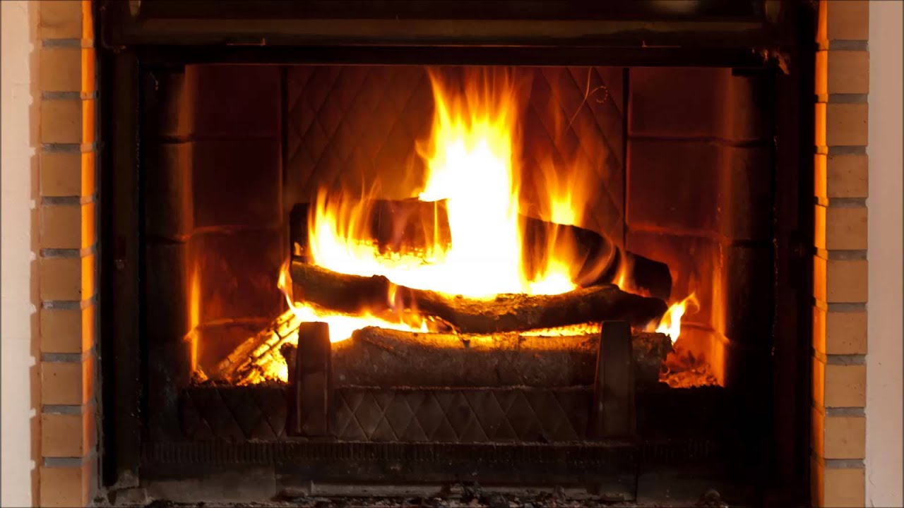 Log cabin fire  relaxing fire crackling sound  YouTube