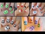 five cute & easy halloween nail