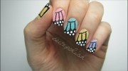 textured butterfly wing nails