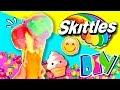 🍦 ¡¡Haz HELADO ARCOIRIS de SKITTLES!! 🍬 RECETA fácil de HELADO CASERO con caramelos SKITTLES