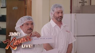 Jimmy Kimmel & Guillermo at a Fortune Cookie Factory