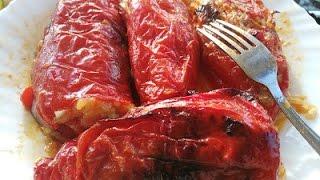 Bakina kuhinja - posna punjena paprika prste da poližeš (meatless stuffed pepper)