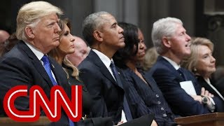 See how Obamas, Clintons greeted (or didn't greet) Trump