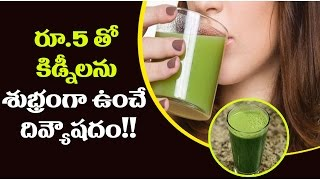 రూ.5 తో కిడ్నీలను శుభ్రంగా ఉంచే దివ్యౌషదం..!! || Natural Kidney Cleanse Drink - Telugu health Facts