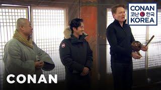 Conan & Steven Yeun Visit A Buddhist Temple