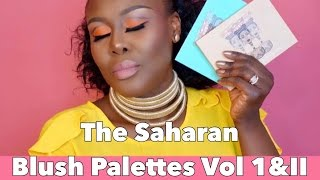 NEW JUVIA'S PLACE SAHARAN BLUSH PALETTES VOL. I & II. REVIEW, SWATCHES & TUTORIAL