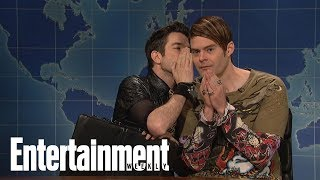 Bill Hader Reveals What John Mulaney Said To Him On SNL | News Flash | Entertainment Weekly