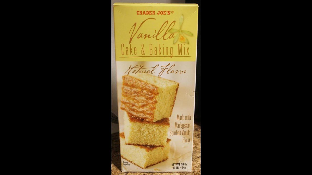 Trader Joes Vanilla Cake Amp Baking Mix Prep Amp Review YouTube
