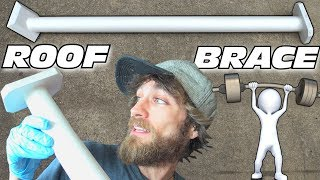 STRONGER ROOF Pt. 2 | How To Build & Install Custom Windshield Bracing w/ WOODEN Car Audio POLE