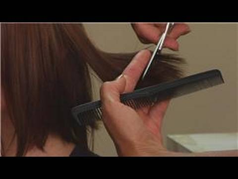 Hair Styling Tips & Techniques : How to Cut Hair With ...