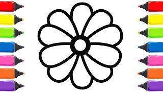 Renkleri öğreniyorum çiçek Boyama Ve Boyama Kitabı Free Download