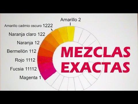 MEZCLAR COLORES MEDIDAS EXACTAS Magenta fucsia rojo