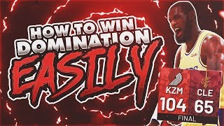 HOW TO WIN EVERY DOMINATION GAME EASY! NBA 2K19 MYTEAM!!