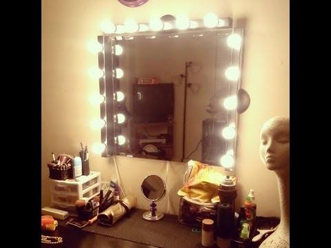 DIY  Vanity Girl Inspired Hollywood Mirror  YouTube