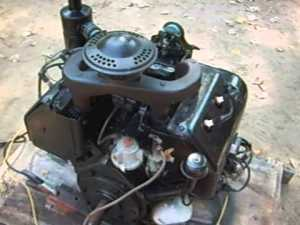 Wisconsin VH4D gas engine for sale  YouTube
