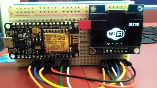 Download SSH1106 I2C OLED Display, running on NodeMCU - WHAT