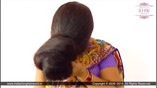 Maha Shivratri Special Huge Front Loose Bun Making Over Face By Deepa With Calf Length Mane