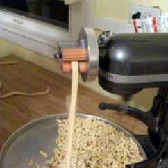 Kitchen Aide Mixer Cabinets Nj Pt 2 Homemade Cavatelli Using My Home Built Kitchenaid ...