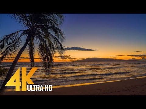 The Beauty of Maui Island in 4K, Hawaii - Part #3 - Short Version with Calming Music