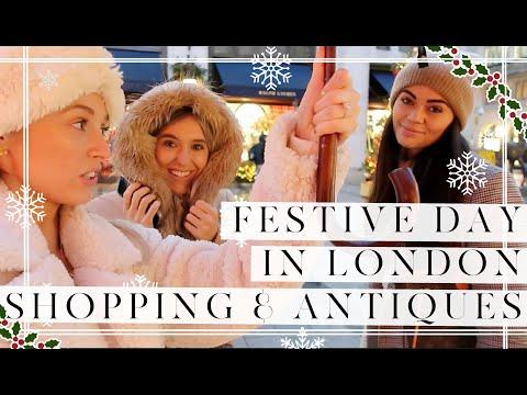 CHRISTMAS SHOPPING IN LONDON & ANTIQUE HUNTING // Vlogmas Day 7 // Fashion Mumblr