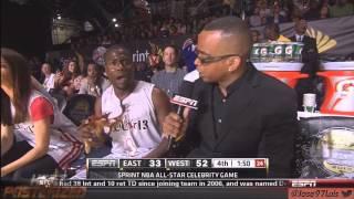 [HD] Kevin Hart NBA Celebrity all star weekend Houston 2013 Back2Back MVP Hilarious LOL