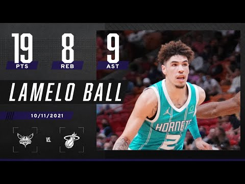 LaMelo Ball goes for 19 PTS, 8 REB & 9 AST
