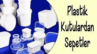 Plastik Kutulardan Dekoratif Sepetler   Decorative Baskets Out Of Plastic Boxes