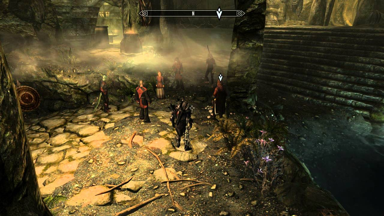 Image result for skyrim dark brotherhood sanctuary