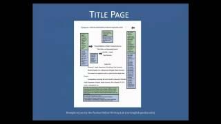 Purdue OWL: APA Formatting - The Basics
