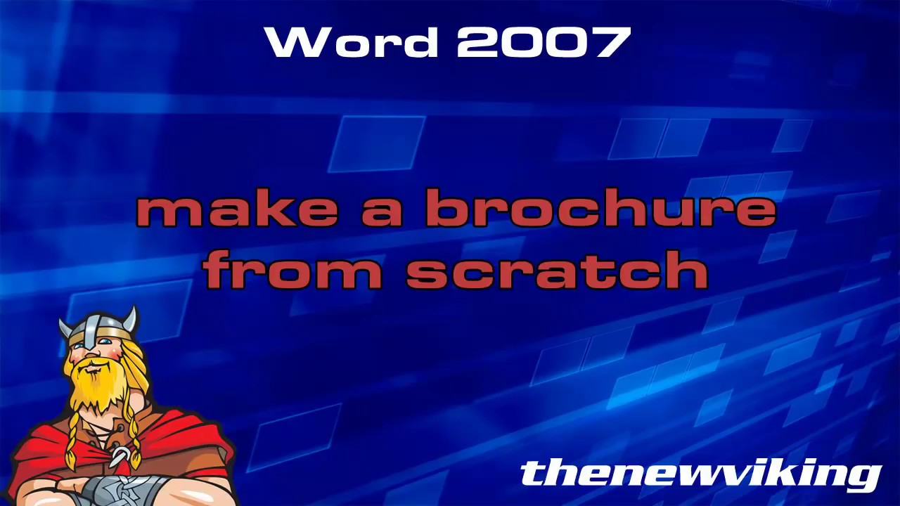 how to make a brochure on word pad