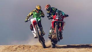 MX vs. ADV! KTM 1190 Adventure R & 450SX-F vs. Honda Africa Twin & CRF450R | On Two Wheels