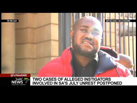 Man accused of instigating unrest appears in court