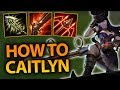 LEARN TO BE YOUR BEST CAITLYN! CAITLYN TRICKS + HOW TO CARRY SOLO QUEUE AS ADC! - League of Legends