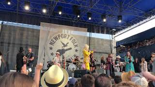Dolly Parton and the Collaboration close out Saturday at Newport Folk Festival 2019