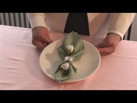 How To Set Up Napkin Rings  YouTube