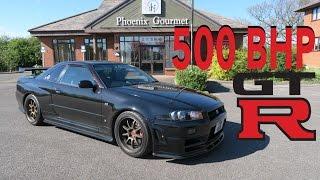 500BHP+ NISSAN R34 GTR SKYLINE REVIEW!