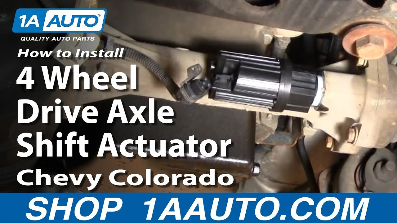 2000 S10 Abs Wiring Diagram How To Install Replace 4 Wheel Drive Axle Shift Actuator