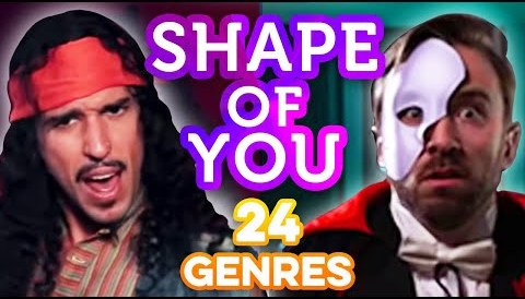 Download Music 24 Genres. Two Artists. One song. All voices. - Shape of You Ed Sheeran