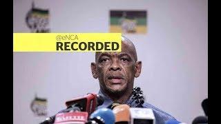 ANC Secretary General Ace Magashule speaks to eNCA