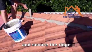DIY ROOF RESTORATIONS - STEP 2 REPLACE RIDGE CAPS