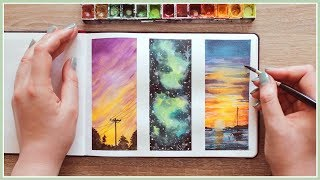 Watercolor Painting Ideas for Beginners   Wet in Wet Technique   Art Journal Thursday Ep. 39