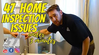 47 Home Inspection Issues in Under 3 Minutes