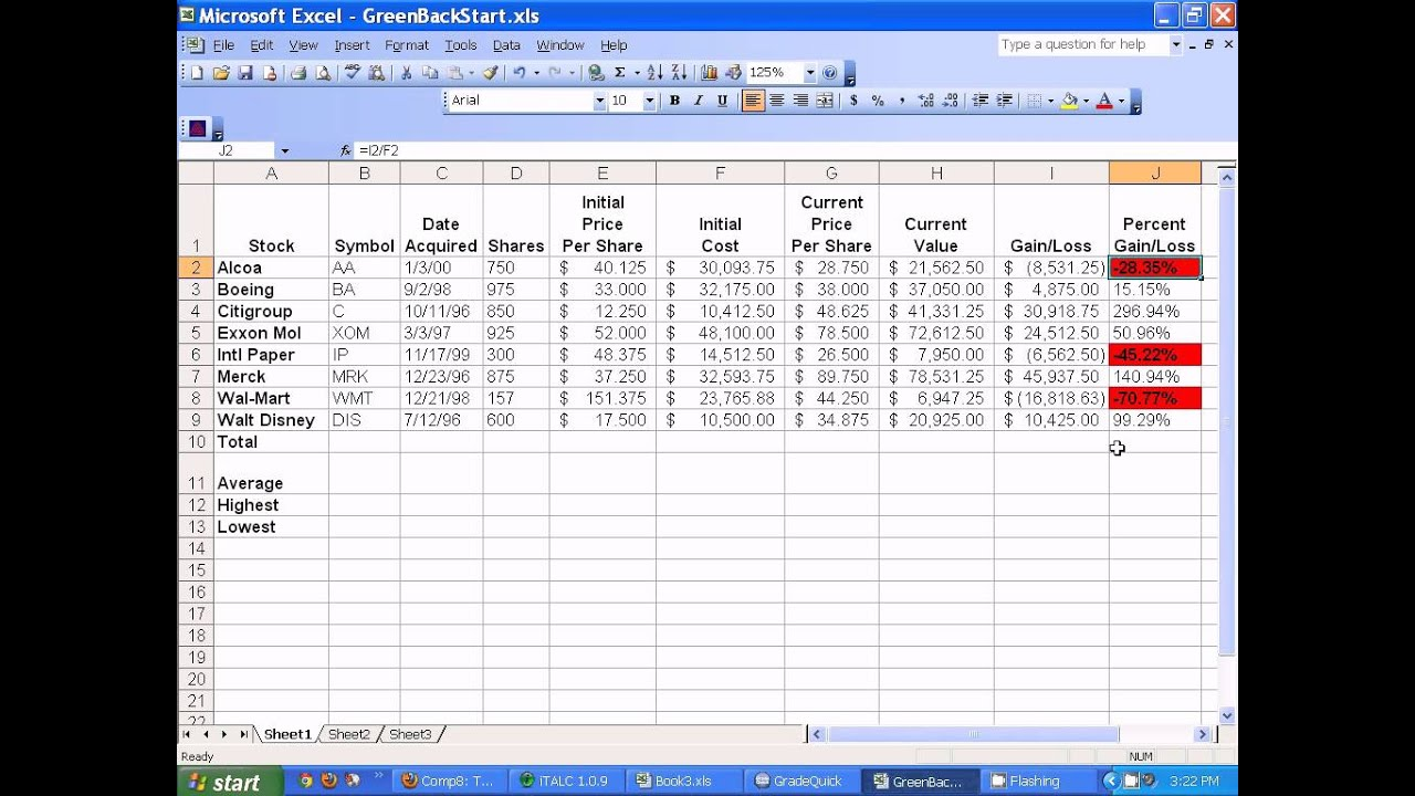 stock maintain excel sheet download
