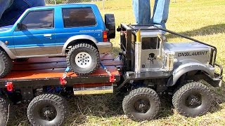 Exhibition SLED PULL Competition - Trail Trucks & Traxxas BL ERevo? ″THE JUDGE″ | RC ADVENTURES