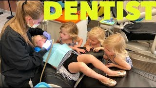 QUADRUPLETS GET TEETH CLEANING