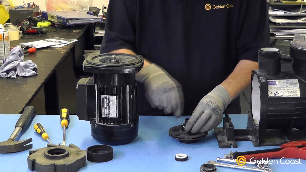 Emerson Pump Motor Wiring Diagram How To Change A Shaft Seal On A Swimming Pool Pump Youtube