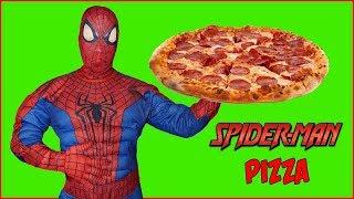 Can Spiderman Make Pizza? Superhero Cooks a Weird Pizza