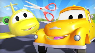 Tom the Tow Truck - Baby Penny The Plane is in Trouble Through The Sky! - Car City ! Cars cartoon